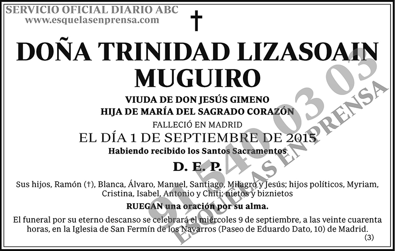 Trinidad Lizasoain Muguiro